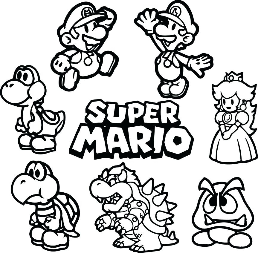 863x847 Amazing Paper Mario Coloring Pages Elaboration