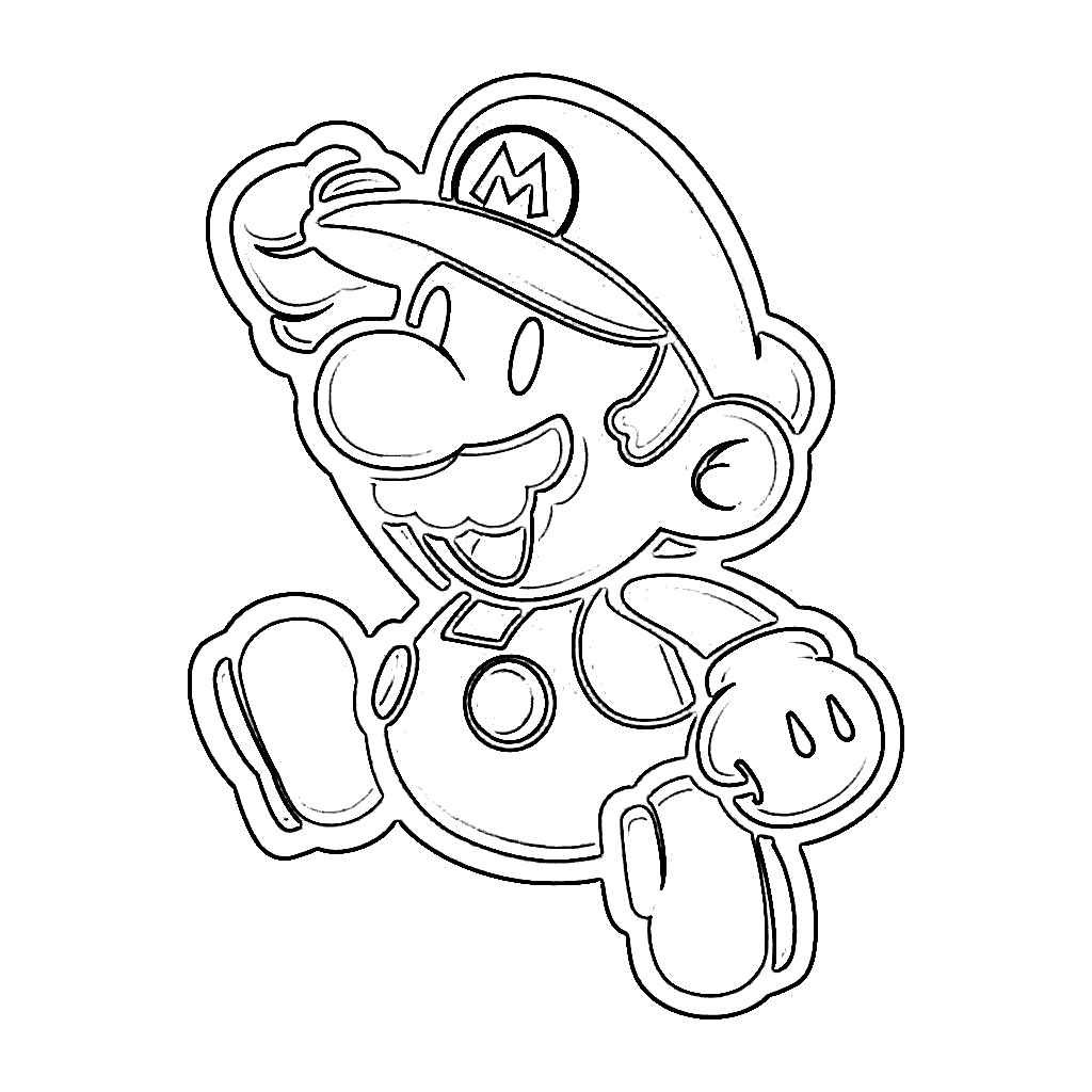 1024x1024 Coloring Pages Mario For Paper
