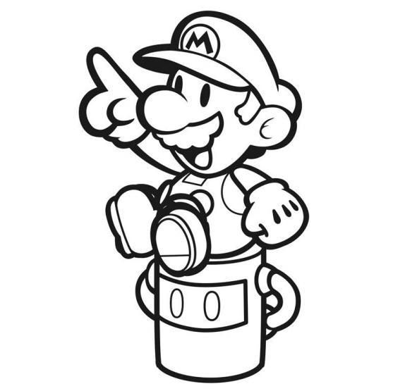 557x555 Paper Mario Color Splash