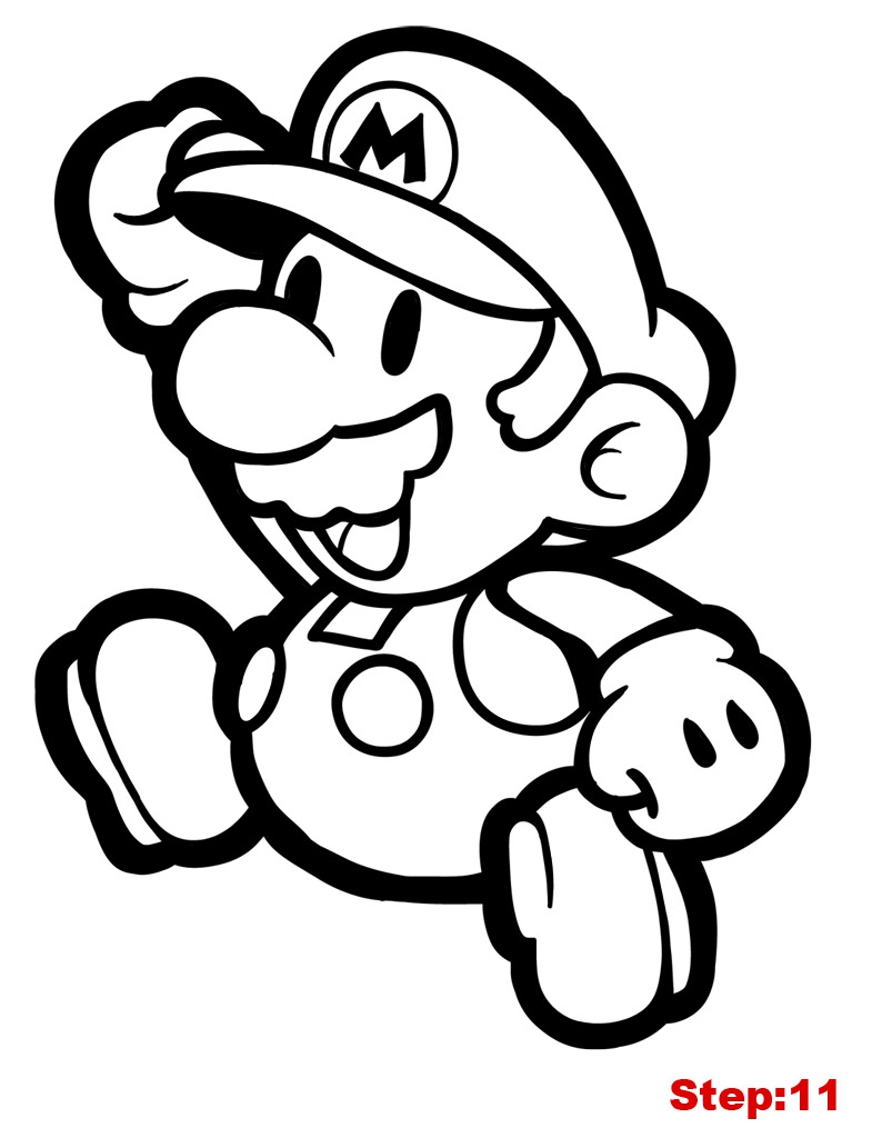 785x1024 Paper Mario Coloring Page For Pages Sticker Star With Super