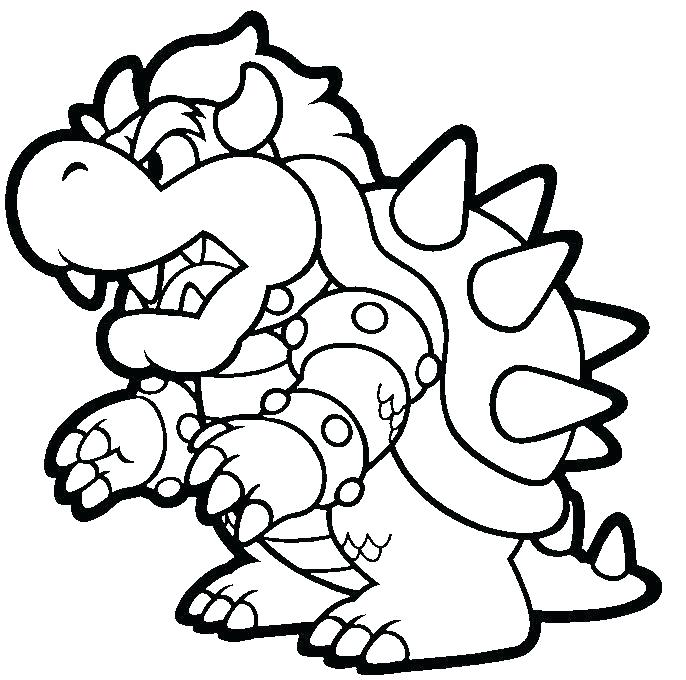 686x680 Paper Mario Coloring Pages Paper Coloring Pages Characters