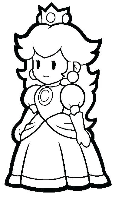 403x650 Paper Mario Sticker Star Coloring Pages Paper Mario Coloring Page