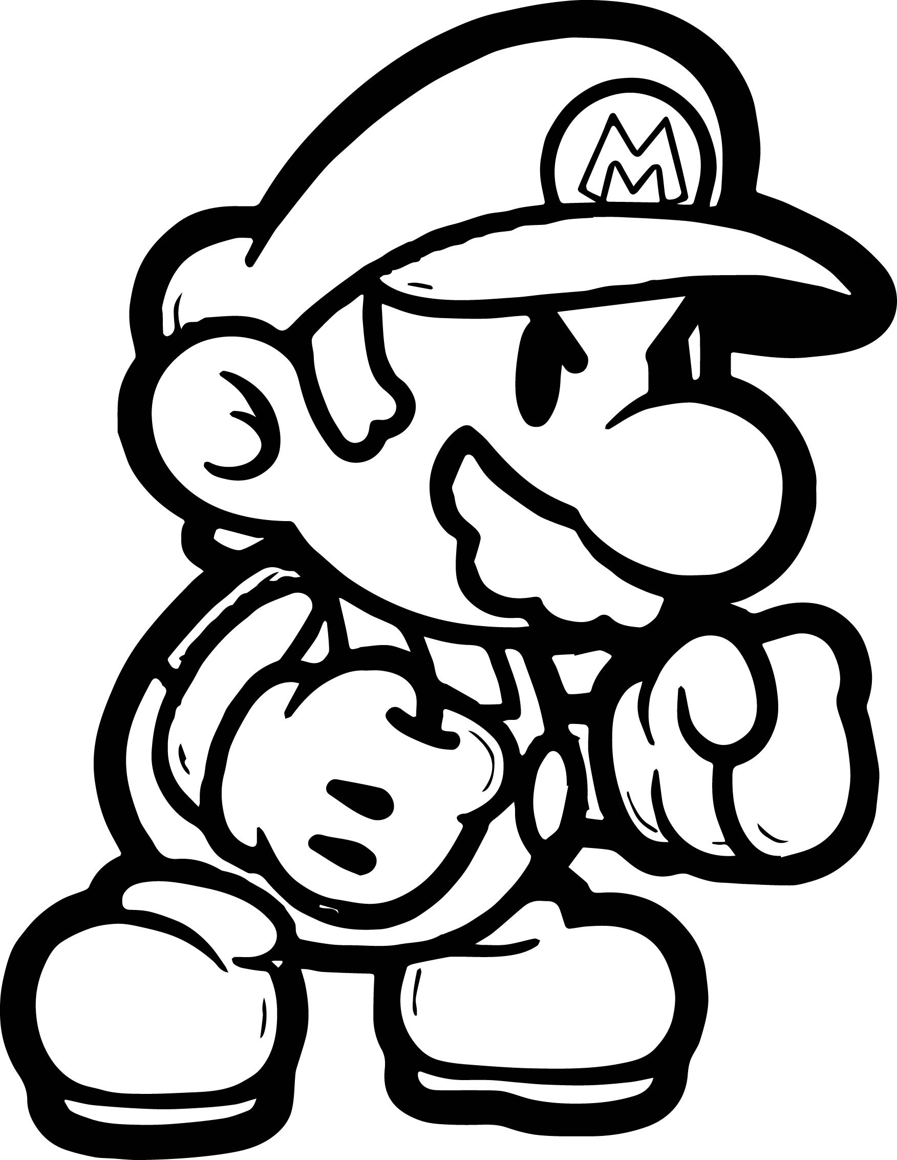 1752x2264 Super Mario Boxing Coloring Page In Paper Pages Stunning