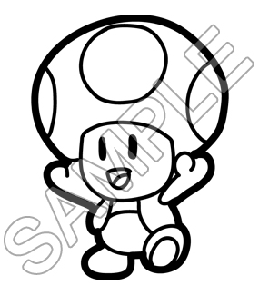 285x325 Mario Toad Coloring Pages