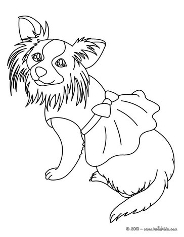 364x470 Cute Dog Coloring Pages