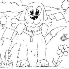 236x236 Dog Color Pages Printable Service Dog Coloring Page To Print