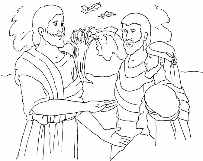 672x533 Mustard Seed Parable Coloring Page