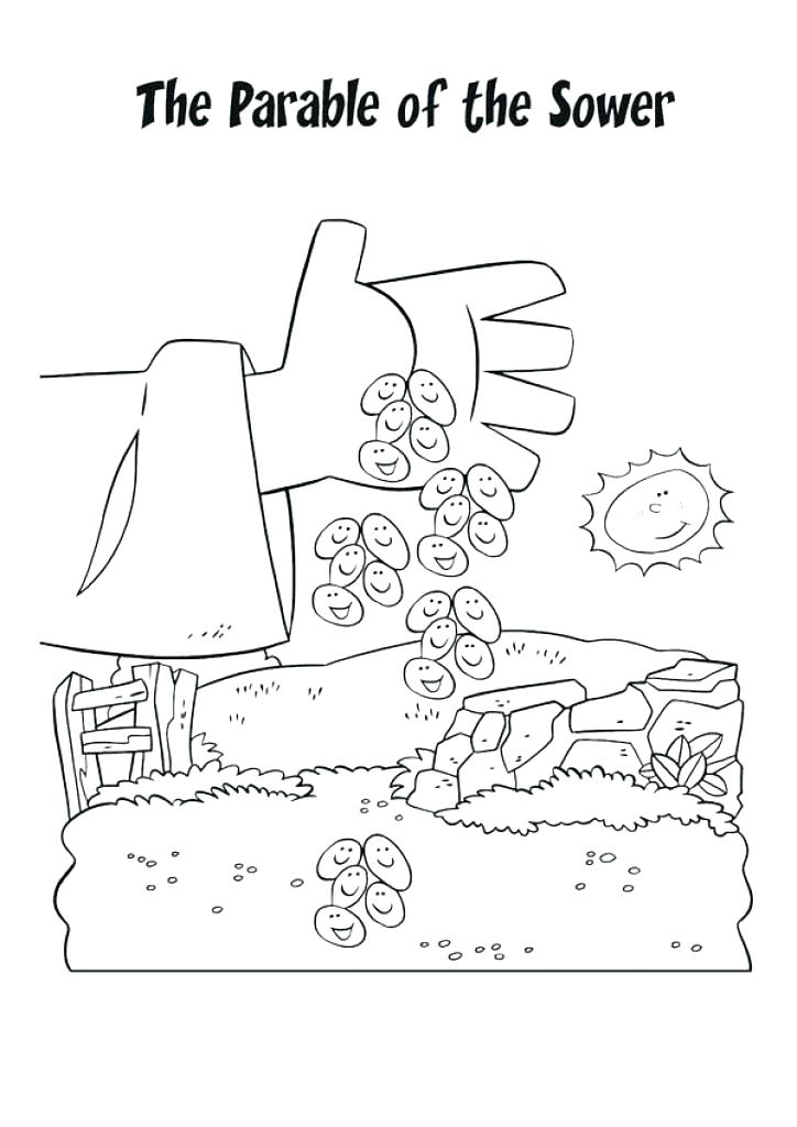 724x1024 Parable Coloring Pages Parable Coloring Pages Parable Coloring