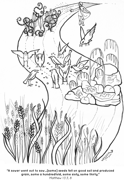 496x756 Parable Of The Sower Coloring Pages Parable Of The Sower Coloring