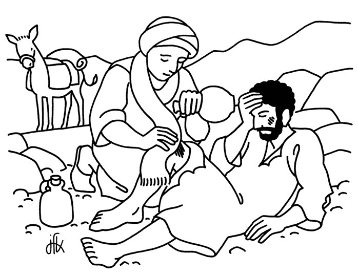 698x539 Parable Of The Good Samaritan Coloring Page