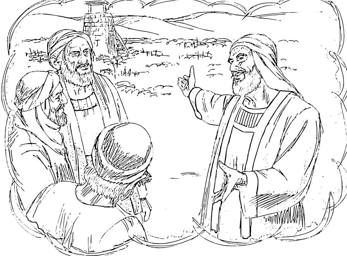 1200x887 Parable Of The Tenants Coloring Pages