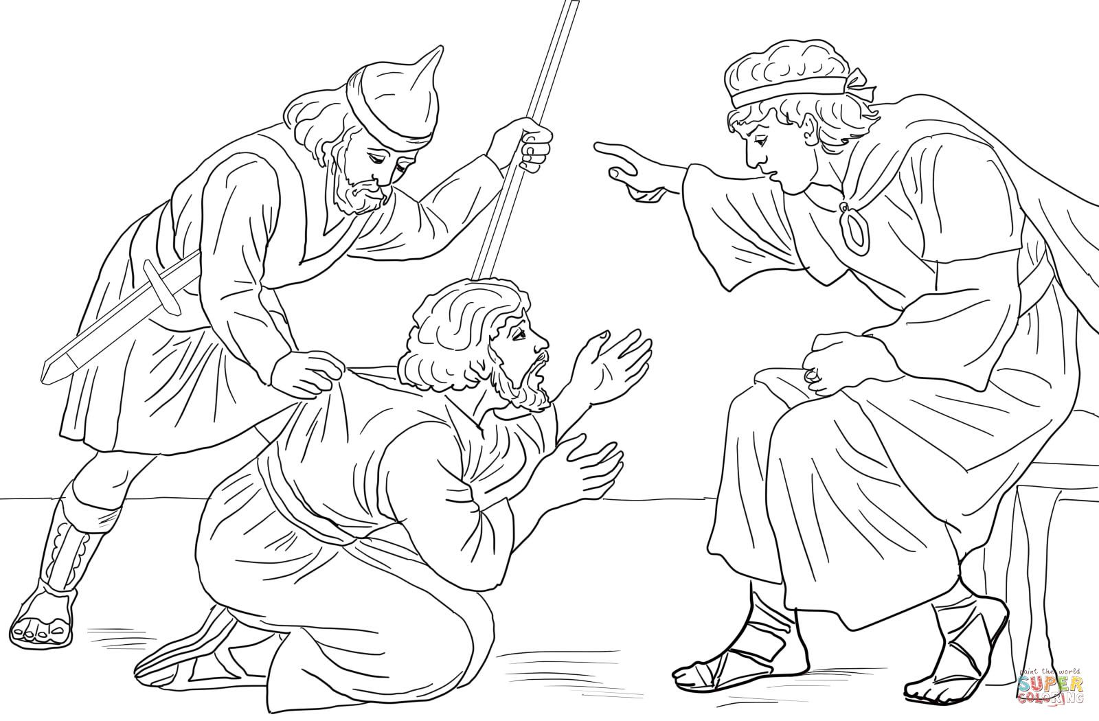 1600x1050 Parable Of Unmerciful Servant Coloring Page Sunday School Ideas