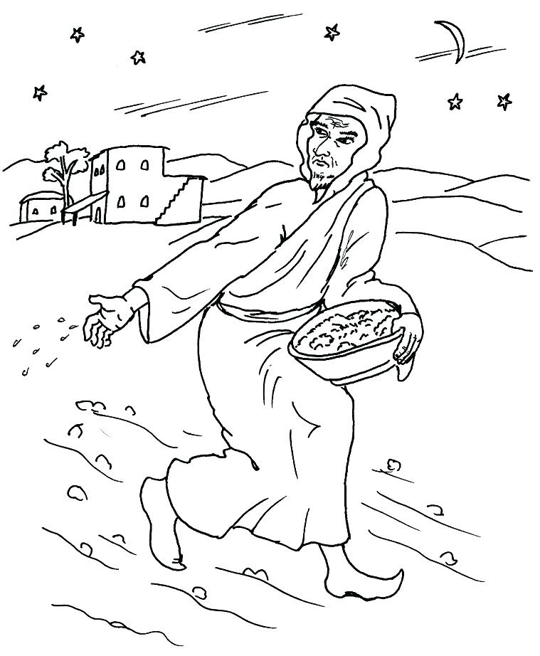 759x922 Parables Of Jesus Coloring Pages Bible Parable Coloring Pages