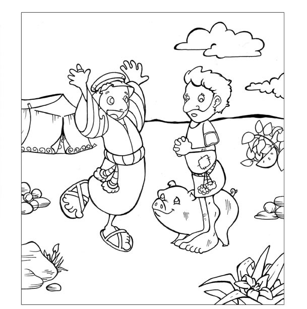 609x613 Coloring The Prodigal Son Colouring Sheet Best The Prodigal Son