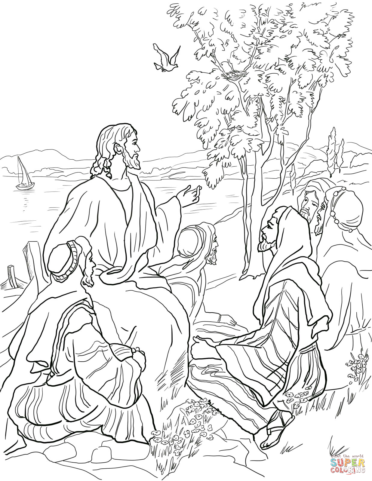 1237x1600 Mustard Tree Parable Coloring Pages Parable Of Mustard Seed