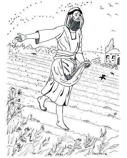 Parable Of The Sower Coloring Page at GetDrawings com | Free