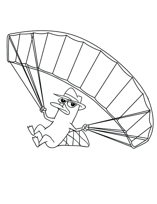 600x776 Fly Guy Coloring Pages Agent The Platypus Fly With Parachute