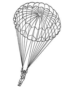 236x288 Coloring Page Canadian Paratrooper Paratrooper