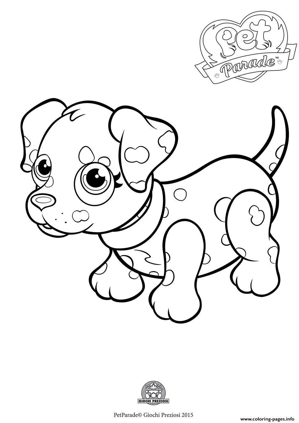 1001x1415 Pet Parade Cute Dog Dalmatian Coloring Pages Printable