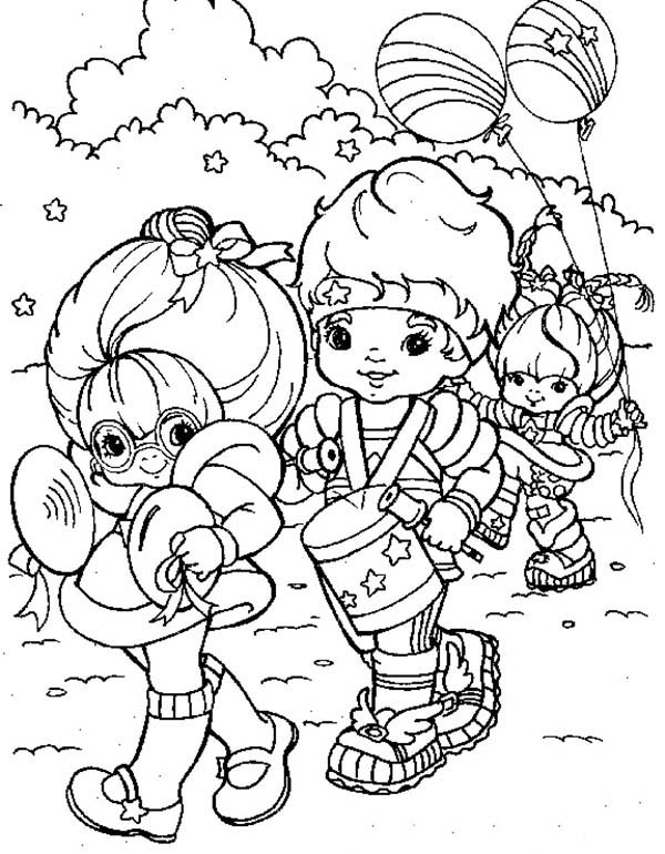 600x770 Rainbow Brite And Red Butler And Green Grange Doing Parade