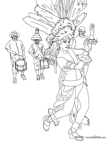 364x470 Carnival Coloring Pages