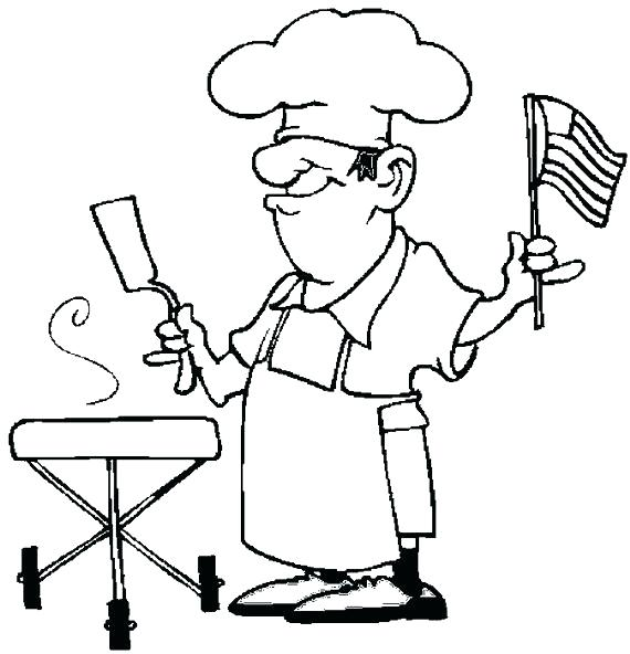 570x592 Chef Independence Day Parade Coloring Page Fourth Of Mexican