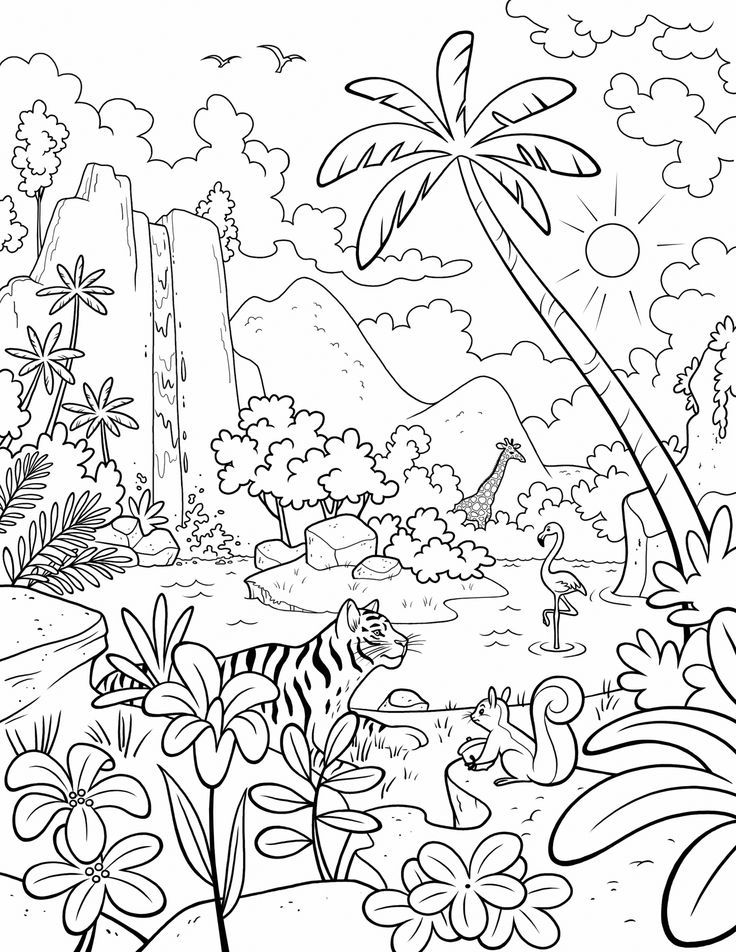 Paradise Coloring Pages at GetDrawings   Free download
