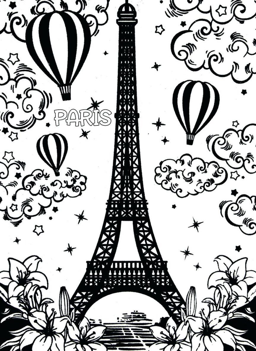 863x1181 Incredible Eiffel Tower Coloring Pages Terrific Secret Paris Color