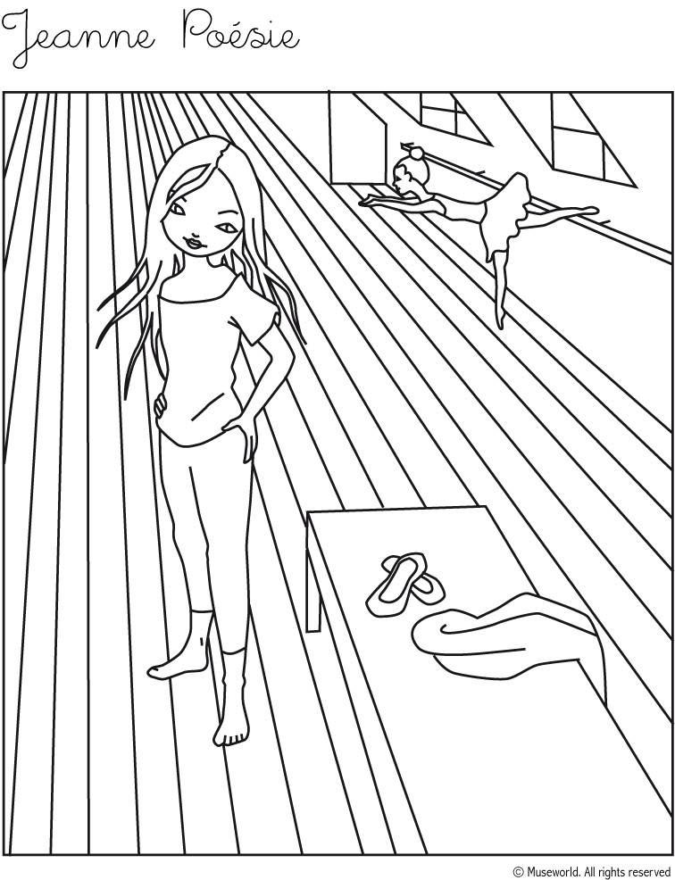 756x986 Jeanne From Paris Coloring Pages