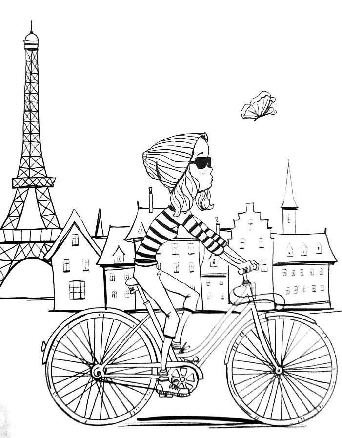 701x898 Paris Coloring Pages Paris Coloring Pages Compilation Free