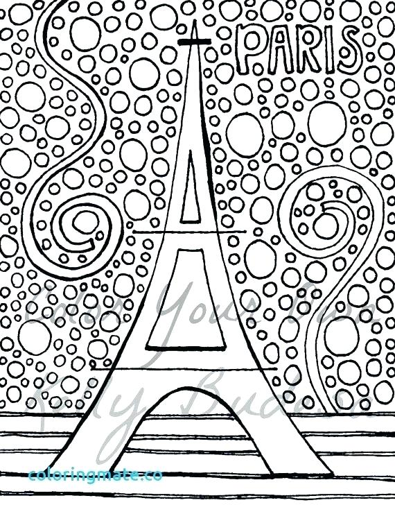 570x741 Paris Coloring Pages