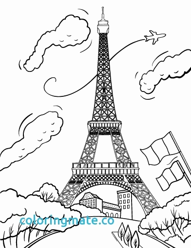 392x507 Luxury Of Paris Coloring Pages For Kids Stock