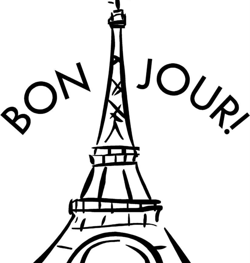 823x864 Eiffel Tower Colouring Pages France Coloring Printable Kids Page