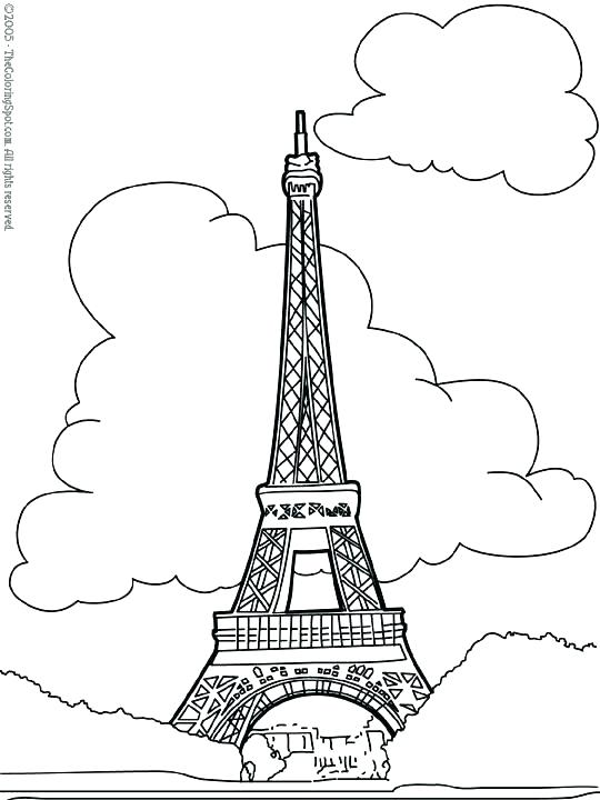 540x720 Free Printable Tower Coloring Pages Pictures To Print Beach Free