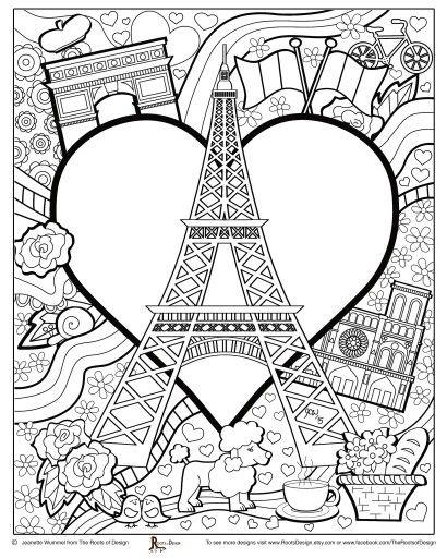 410x512 Paris Coloring Pages