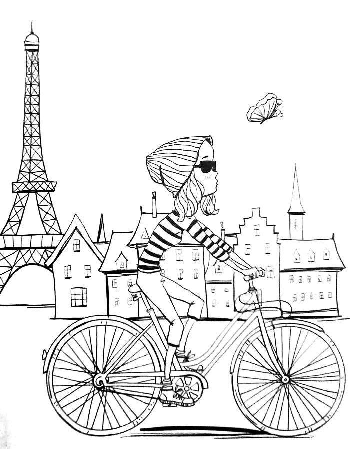 701x898 Paris Coloring Pages Paris Coloring Pages Compilation Free