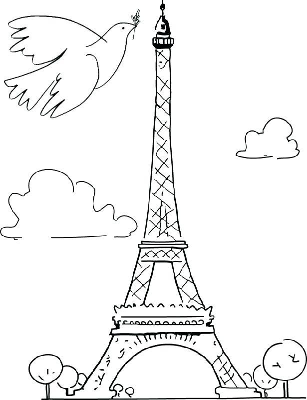615x800 Paris Monuments Coloring Pages Kids Coloring Images About Adult