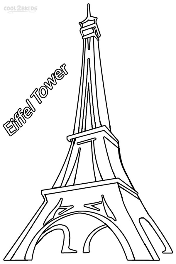 600x900 Printable Eiffel Tower Coloring Pages For Kids