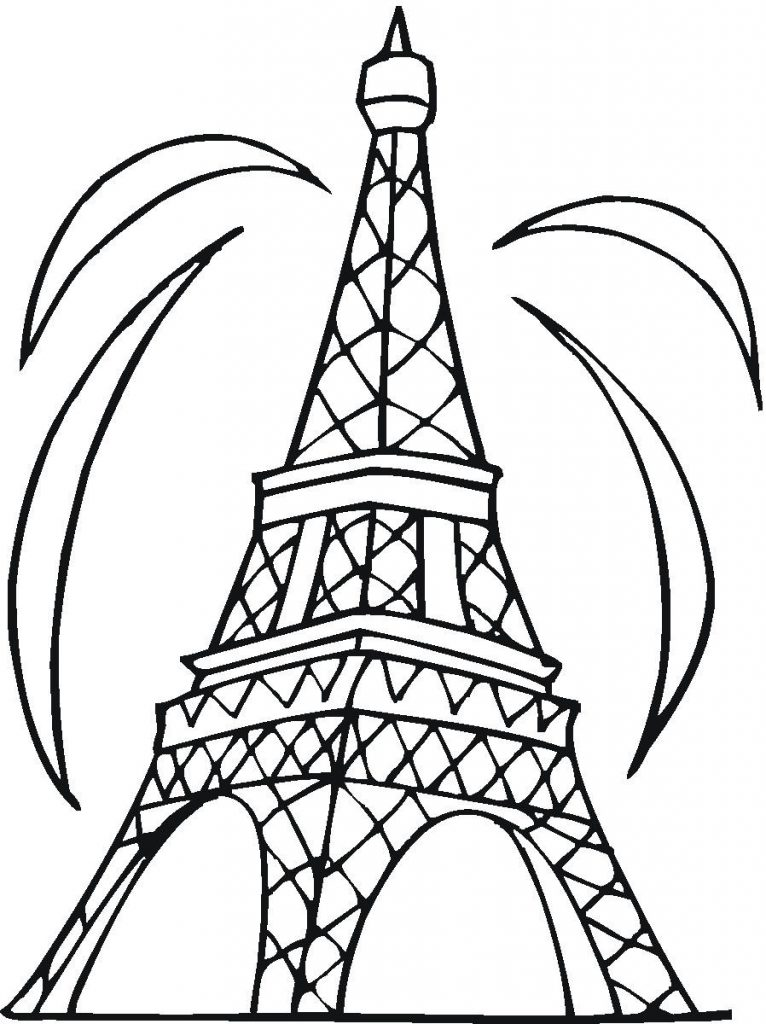 766x1024 Coloring Page Eiffel Tower Color Online Coloringcrew Pages General