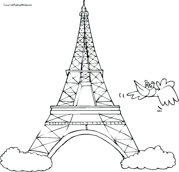 600x576 Eiffel Tower Coloring Page Tower Coloring Pages Tower Coloring