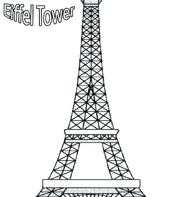 357x400 Eiffel Tower Coloring Page Tower Coloring Pages View Tower