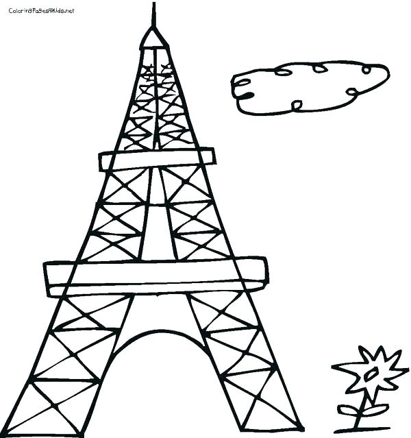 600x639 Eiffel Tower Coloring Pages Plus Tower Coloring Pages Tower
