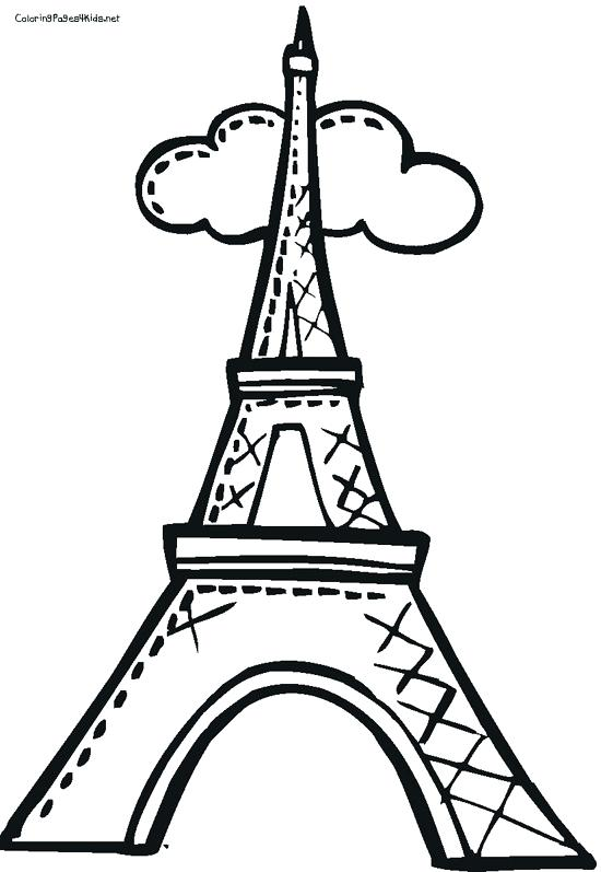 Paris Eiffel Tower Coloring Pages at GetDrawings.com | Free for ...