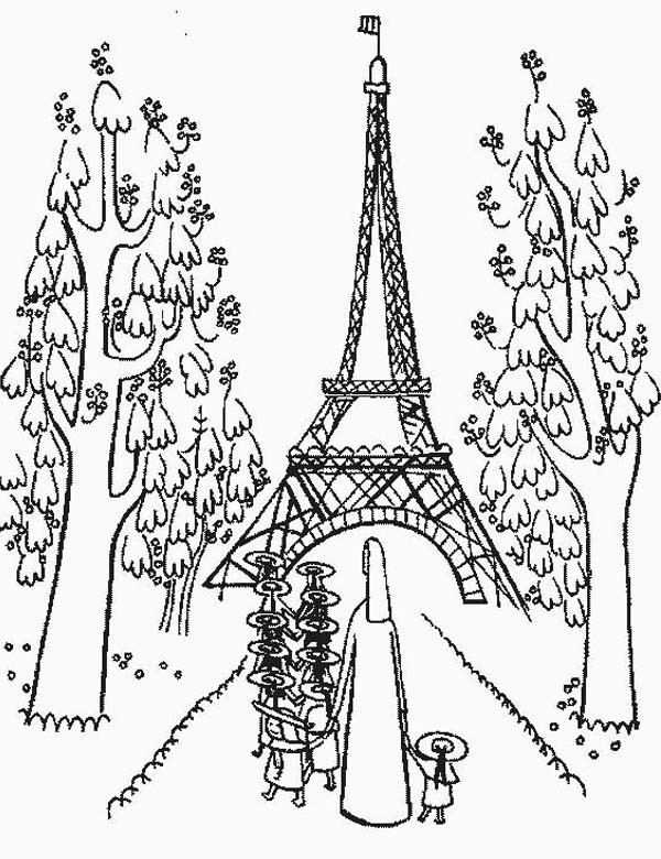 600x780 Eiffel Tower Coloring Page Lovely Paris Coloring Pages For Girls