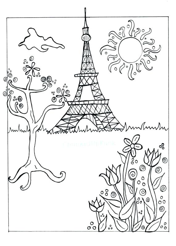 570x798 Beautiful View Of Tower Coloring Page Download Print Beautiful