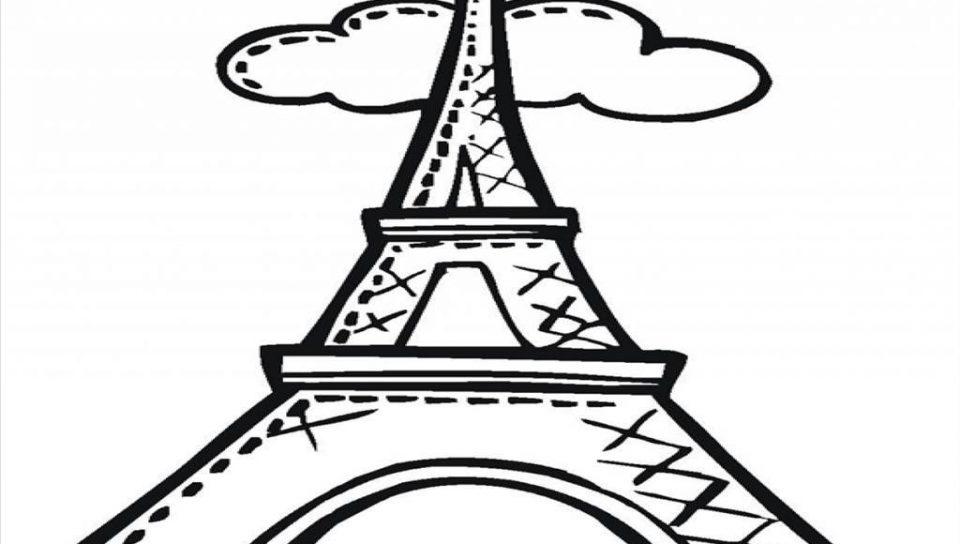 960x544 Kids Eiffel Tower Coloring Page Paris Printable Pages France