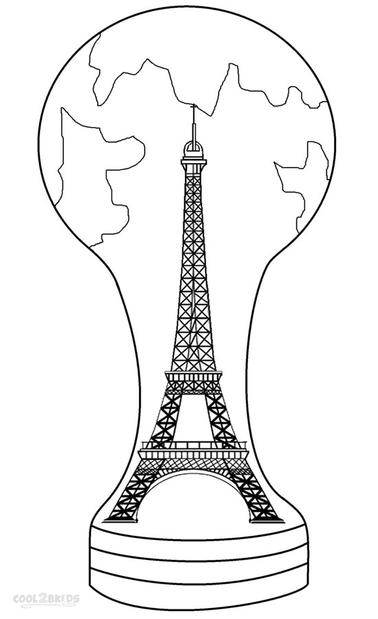 550x900 Printable Eiffel Tower Coloring Pages For Kids