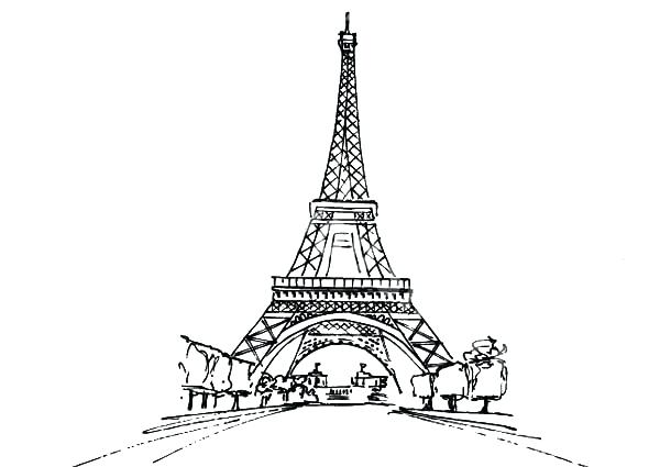 600x425 Printable Tower Coloring Pages For Kids Tower Coloring Page