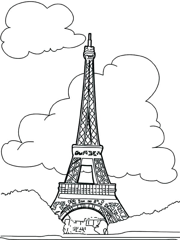 600x800 Tower Coloring Page Pages And Stars In The Sky Tower Coloring Page