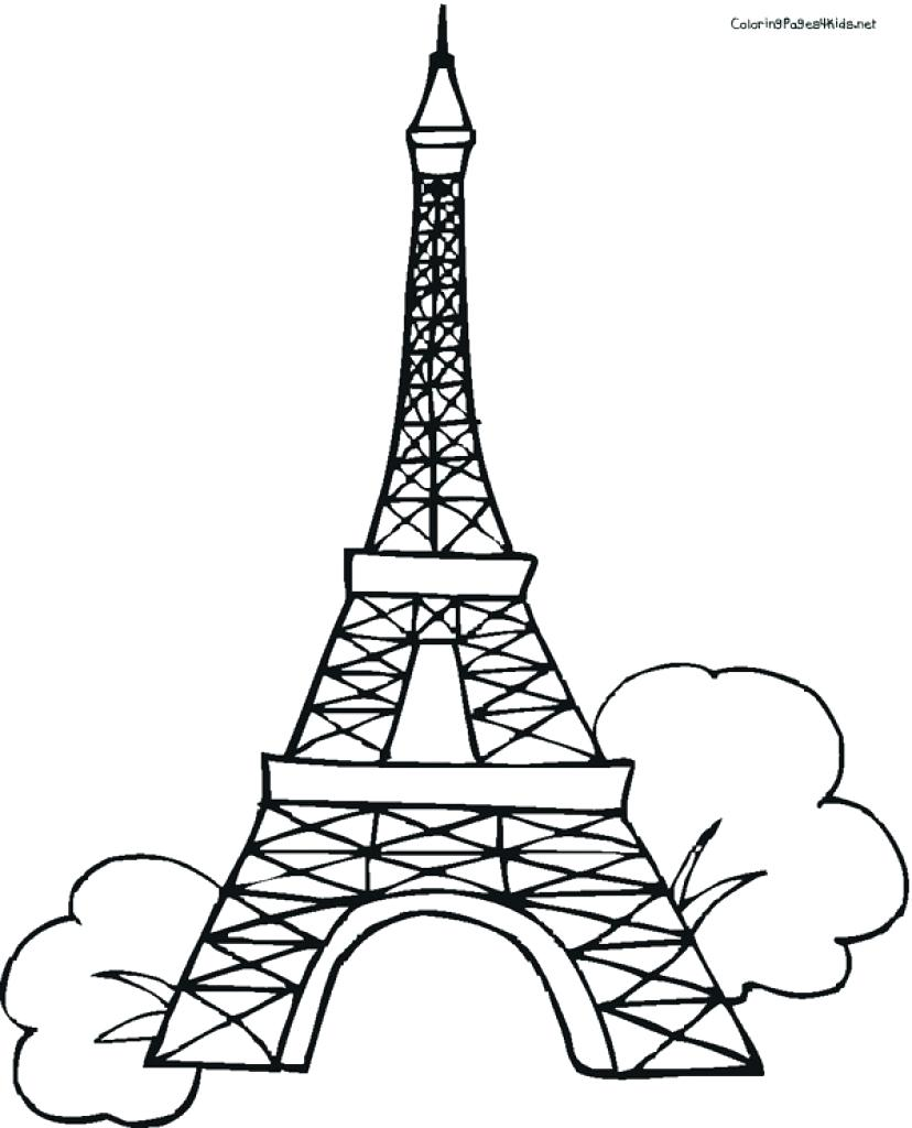 828x1024 Coloring Pages Eiffel Tower Coloring Page Pages Charming Paris